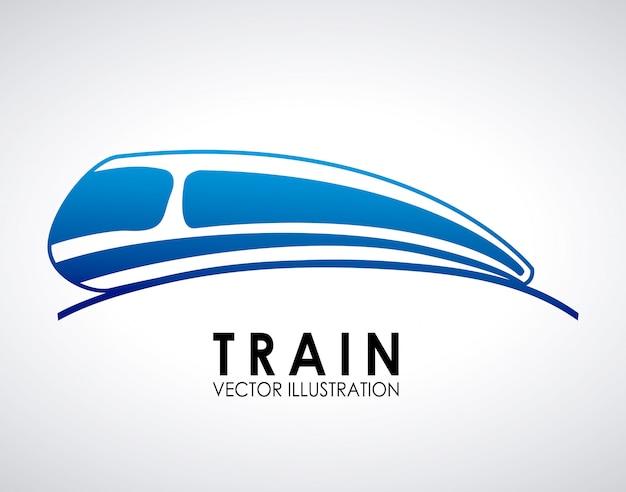 Trein ontwerp over grijze achtergrond vectorillustratie