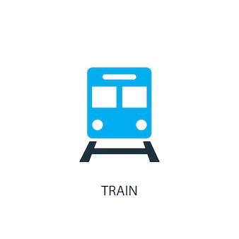 Trein pictogram. logo-element illustratie. trein symbool ontwerp uit 2 gekleurde collectie. eenvoudig treinconcept. kan worden gebruikt in web en mobiel.