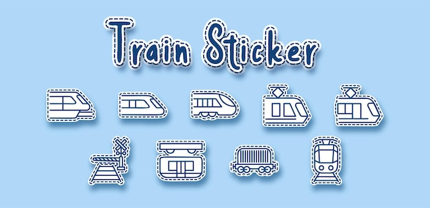 Trein spoorvervoer lijn sticker