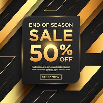 Trek een donkere gouden verkoopachtergrond aan