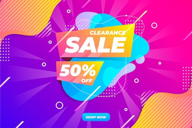 Trek kleurrijke verkoopachtergrond aan