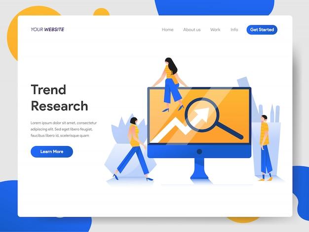 Trend onderzoek concept