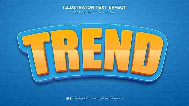 Trend teksteffect bewerkbaar lettertype