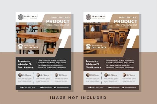 Trend toekomst productmeubilair flyer maakt gebruik van verticaal lay-outontwerp