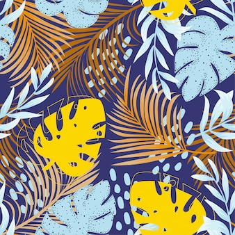 Trending abstract naadloos patroon met kleurrijke tropisch