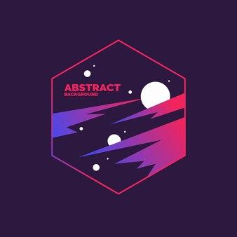 Trendy abstracte achtergrond. samenstelling van geometrische vormen en lijn. vector illustratie