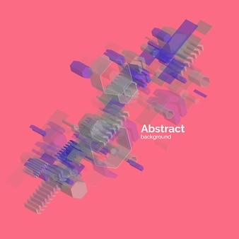 Trendy abstracte achtergrond. samenstelling van geometrische vormen. vector illustratie