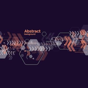 Trendy abstracte achtergrond. samenstelling van geometrische vormen. vector sjabloon