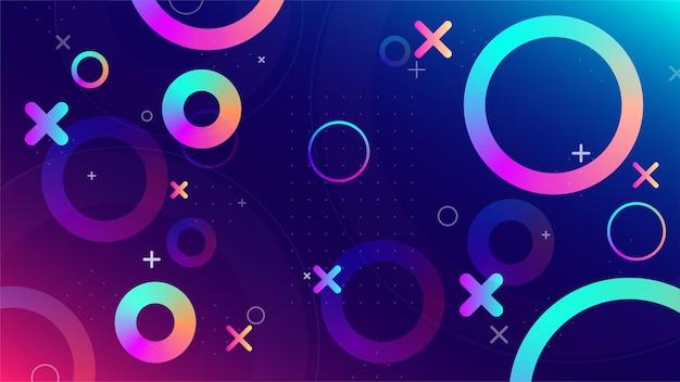 Trendy abstracte geometrische achtergrond