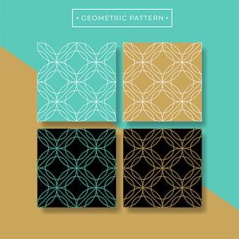 Trendy abstracte geometrische naadloze patrooninzameling