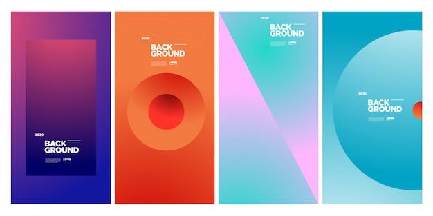 Trendy abstracte kleurrijke geometrische poster sjabloon