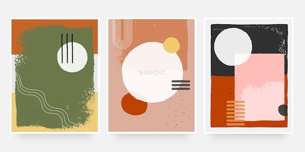 Trendy abstracte organische omslagvorm. teracotta kleurtoon gebruik voor banner, brochure, kaart, uitnodiging, print, flyer of presentatie