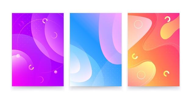 Trendy abstracte vloeiende geometrische achtergrond.