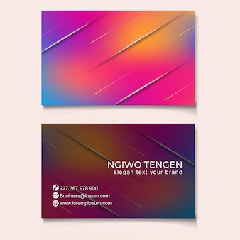 Trendy abstracte zaken kaartsjabloon modern