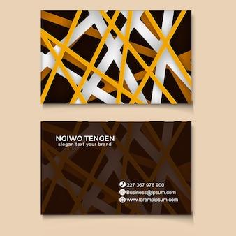 Trendy abstracte zaken kaartsjabloon modern Premium Vector