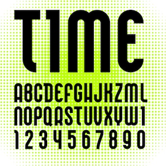 Trendy alfabet, zwarte moderne letters