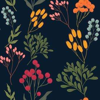Trendy bloemen naadloos patroon