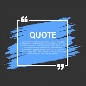 Trendy blok citaat moderne elementen creatief citaat en commentaar tekstframe sjabloon