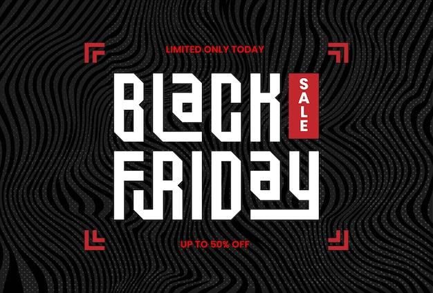 Trendy flayer en banner zwarte vrijdag verkoop typografie belettering vierkant concept met zwarte splash voor promotiemarkt online