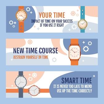 Trendy flyers met horloges