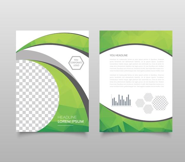 Trendy geometrisch driehoekig en ander ontwerp