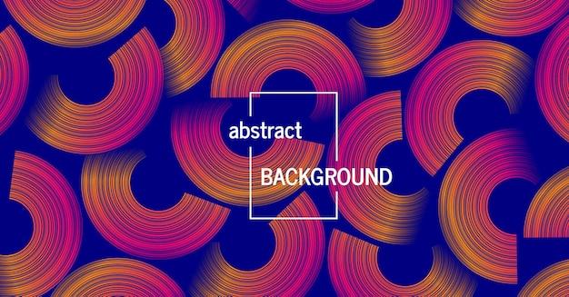 Trendy geometrische achtergrond met abstracte cirkels vormen. futuristisch dynamisch patroonontwerp. vector illustratie
