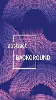 Trendy geometrische achtergrond met abstracte cirkels vormen. verhalen banner ontwerp. futuristisch dynamisch patroonontwerp. vector illustratie
