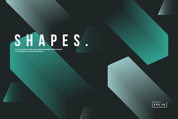 Trendy geometrische achtergrond. verloop vormt compositie.