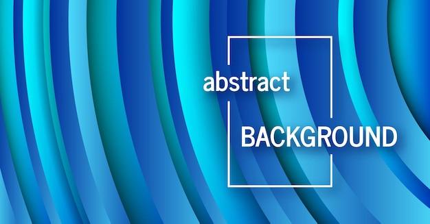 Trendy geometrische blauwe achtergrond met abstracte cirkels vormen. bannerontwerp. futuristisch dynamisch patroon. vector illustratie