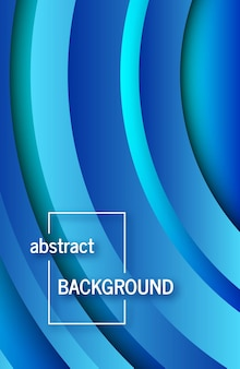 Trendy geometrische blauwe achtergrond met abstracte cirkels vormen. verhalen banner ontwerp. futuristisch dynamisch patroon. vector illustratie