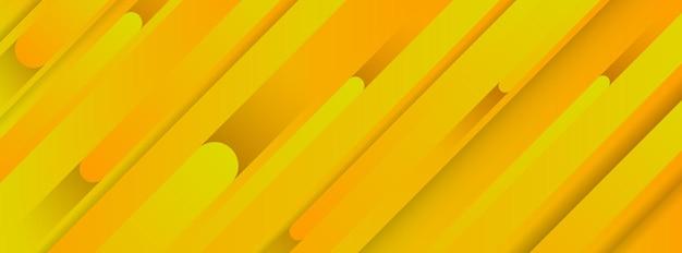 Trendy geometrische gele achtergrond met abstracte lijnen. bannerontwerp. futuristisch dynamisch patroon. vector illustratie