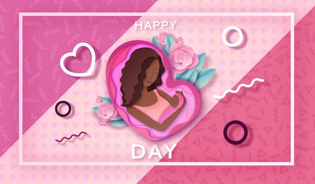 Trendy geometrische moederdag banner
