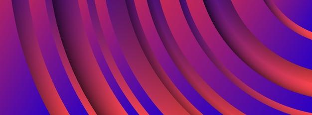 Trendy geometrische paarse achtergrond met abstracte cirkels vormen. bannerontwerp. futuristisch dynamisch patroon. vector illustratie