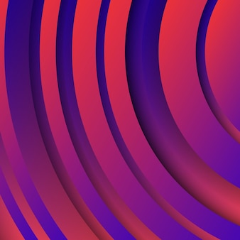 Trendy geometrische paarse achtergrond met abstracte cirkels vormen. kaart ontwerp. futuristisch dynamisch patroon. vector illustratie