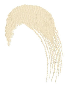 Trendy haar blonde cornrows geïsoleerd op wit