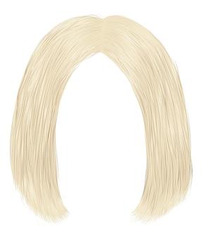 Trendy haren donkerbruine blonde kleuren. kare afscheid.