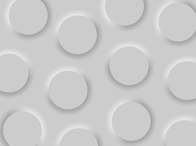 Trendy interface-achtergrond in neumorphism-stijl