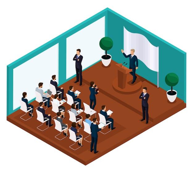 Trendy isometrische zakenlieden