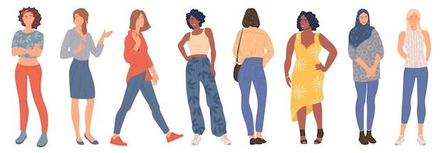 Trendy jonge vrouwen