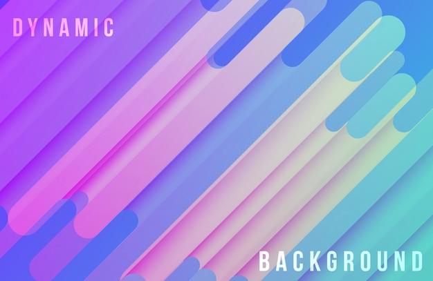 Trendy kleurovergang achtergrond met dynamische vormen