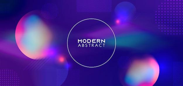 Trendy kleurverloop met dynamische geometrische vormen achtergrond