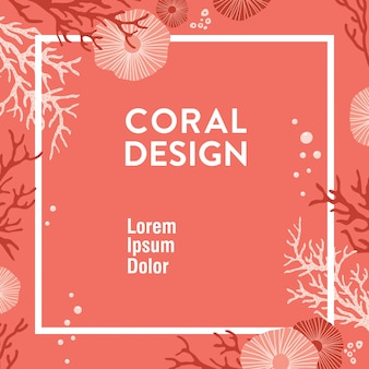 Trendy koraalontwerp