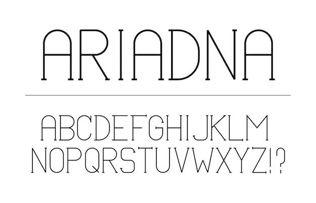 Trendy lettertype