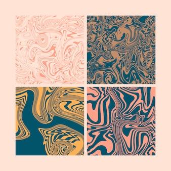 Trendy marmeren naadloze patroon elementenset