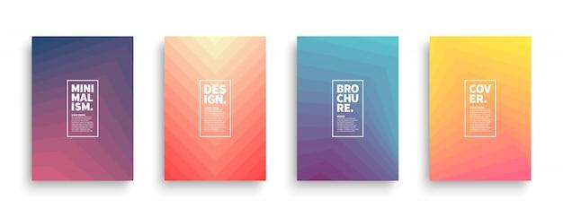 Trendy minimalistische stijl brochures ontwerpen