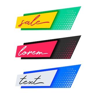 Trendy mode verkoop banners ontwerp
