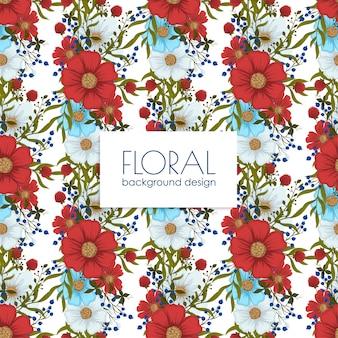 Trendy naadloos bloemenpatroon