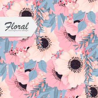 Trendy naadloze bloemen