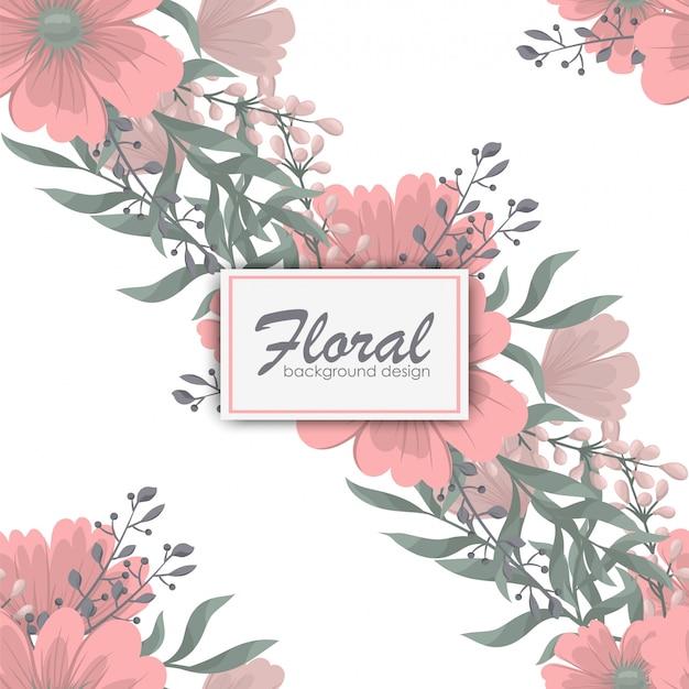 Trendy naadloze bloemmotief in vectorillustratie