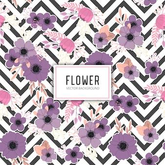 Trendy naadloze bloemmotief